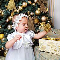 Детская повязка на голову Вероника (Ника) от Miminobaby белая