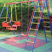 Гумова плитка на садовій ділянці. 1000х1000 мм, Товщина 10 мм, 8 кольорів.