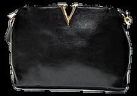 Строгая женская сумочка из натуральной кожи черного цвета DDS-085522, фото 1