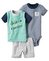 Комплект летний Carters для мальчика с шортиками (9М,12М)