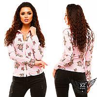 Женская рубашка с принтом, цвета тёмно-синяя, белая, малиновая, розоваяя, все размеры, другие цвета