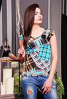 Кофта летняя с гипюровой спинкой 42,44,46,48, фото 1
