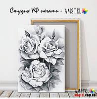 Печать картин и фото на холсте 300х400 - Абстракция роз