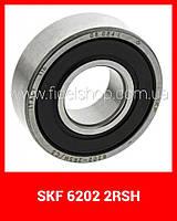 Шариковый радиальный подшипник , однорядный, 6202-2RSH SKF