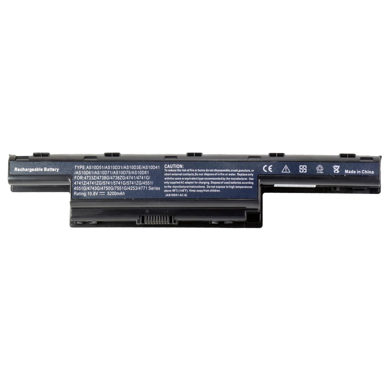 Батарея для ноутбука ACER Aspire 4250-7750 Aspire Aspire E1 Aspire V3 TravelMate 4740 - 7750 GATEWAY