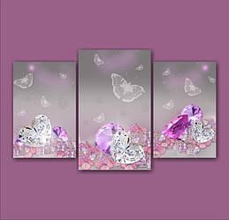 "Модульная картина ""Драгоценные камни""  (1500х2520 мм)  [3 модуля]"