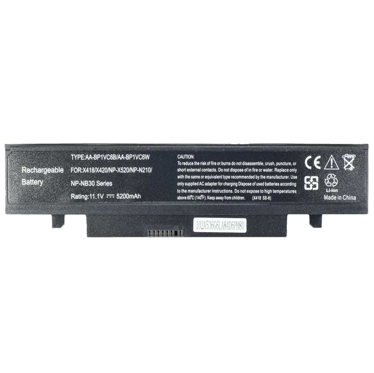 Батарея для ноутбука SAMSUNG X418 X420 N210 N220 N230 NB30 Pro X420 X520 Aura SU4100 Akiva