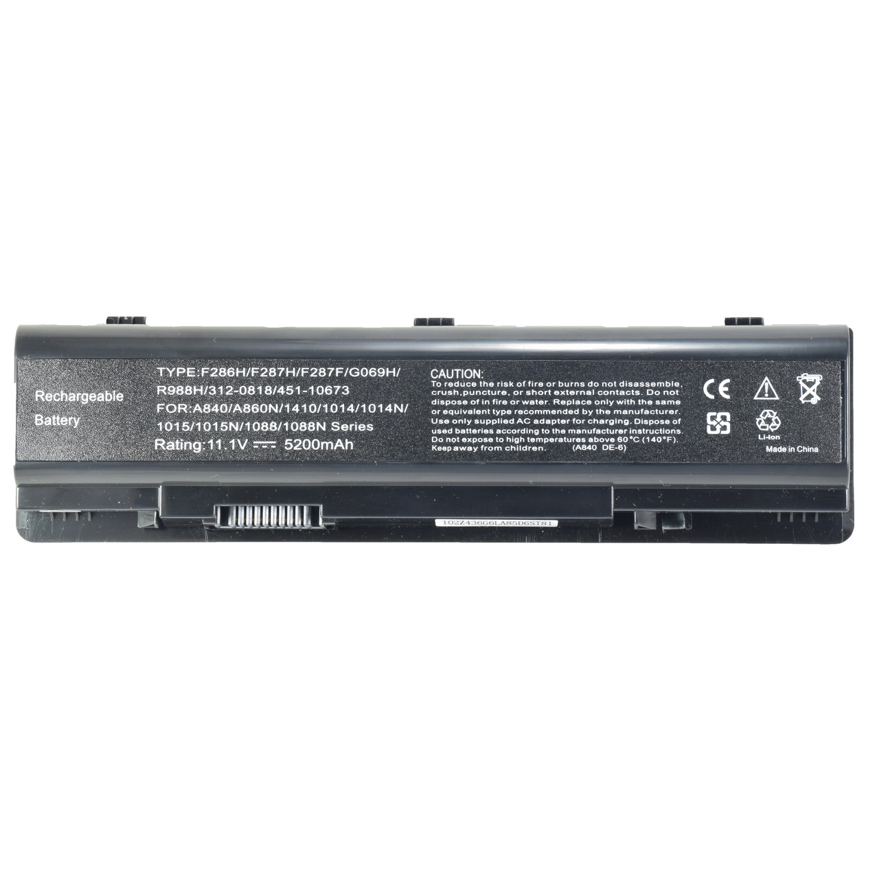 Батарея для ноутбука DELL Inspiron 1410 1014 1014n 1015 1015n 1088 1088n A840 A860 A860n Series