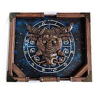 """Интерьерное панно стимпанк """"Zodiac Taurus"""" Подарок для мужчины Тельца, фото 1"""