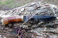 Нож для охотника Кабан, сделано в Украине +кожаные ножны