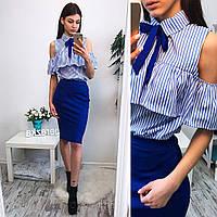 Красивый костюм блузка+юбка  BER-002.003.084