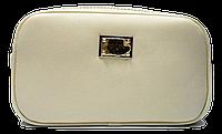 Интересная женская сумочка бежевого цвета VVK-003225