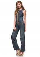 """Комбинезон женский джинсовый с карманами """"PLAY"""" купить оптом в Одессе на 7км, фото 1"""