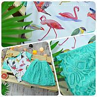 """Очень красивый костюм """"Фламинго"""" расцветки  BER-002.004.030(3)17"""