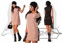 Женское платье из вязки с люрексовой нитью