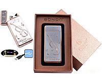 Электроимпульсная USB зажигалка Bondn Music №4770-1, модный и стильный аксессуар курящего человека, выделяемся