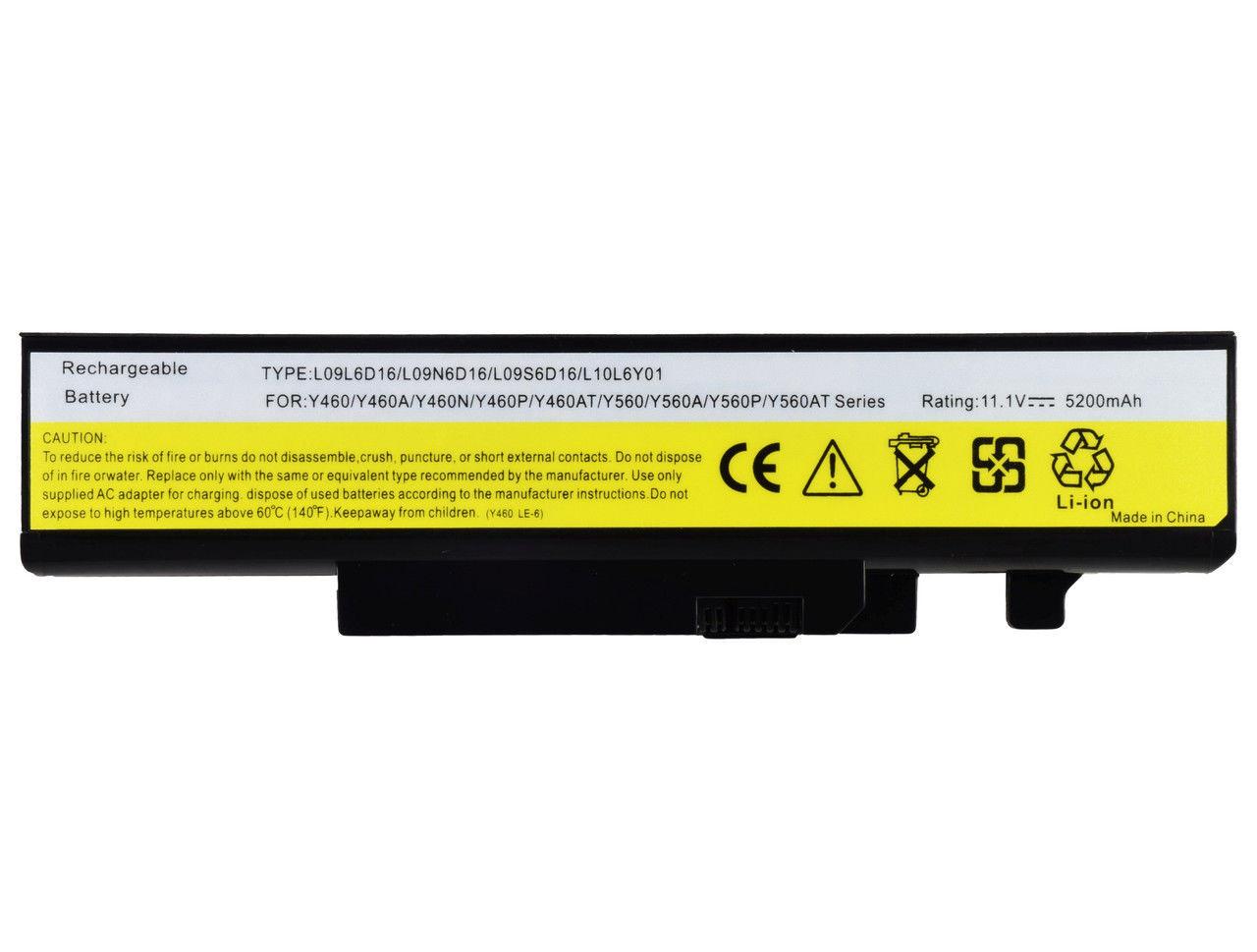Батарея для ноутбука LENOVO Y460 Y560 A AT C G N P PT IFI ITH ISE