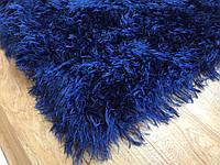 Ковер из полиэстера 1,35 х1,65 ручная работа, Jungle- т. синий