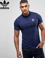 Футболка поло | темно синяя тенниска | Adidas logo