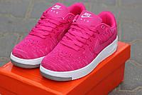 Женские кроссовки Nike Airforce, текстильная сетка, розовые / кроссовки женские Найк Аирфорс, стильные
