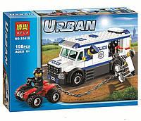 """Конструктор Bela Urban 10418 (аналог Lego City 60043) """"Автомобиль для перевозки заключенных"""", 198 дет"""