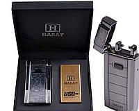 Электроимпульсная USB зажигалка Hasat №4771-1, изысканный и стильный подарок другу, выделяемся из толпы, новые