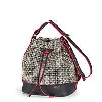 "Сумка-рюкзак Dolly 470 летняя женская ""Соломка"" на шнурке 22 см х 25 см х 18 см"