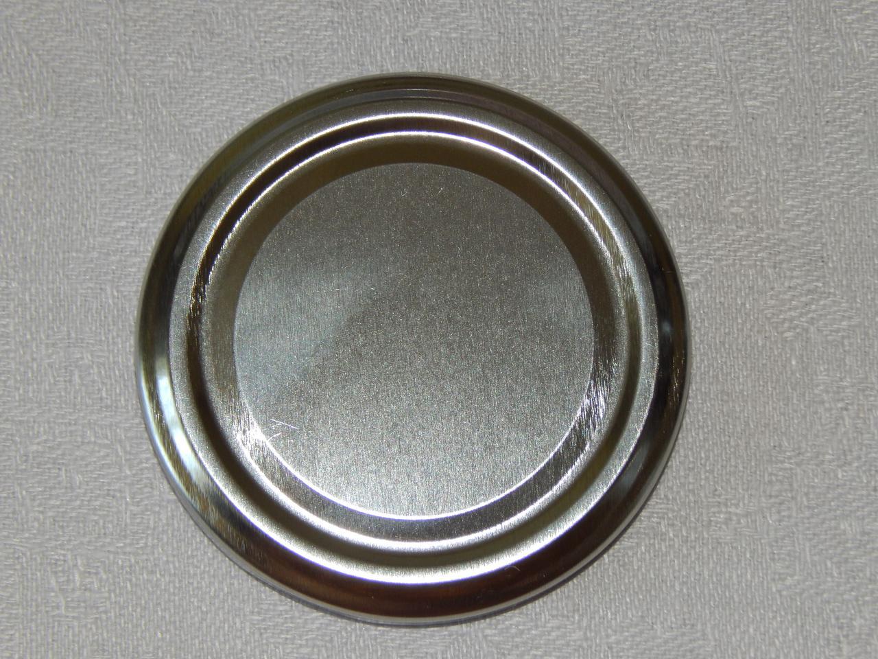 Крышка закаточная твист-офф размер 66 мм серебро