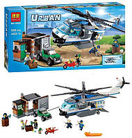"""Конструктор Bela Urban 10423 (аналог Lego City 60046) """"Вертолётный патруль"""", 528 дет"""