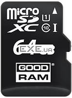 Карта памяти Goodram Class 10 UHS| 64GB microSDXC + SD adapter +reader (M1A4-0640R11)