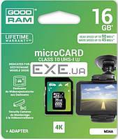 Карта памяти Goodram Class 10 UHS| U3 16GB microSDHC + SD adapter (M3AA-0160R11-DD)
