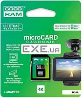 Карта памяти Goodram Class 10 UHS| U3 64GB microSDXC + SD adapter (M3AA-0640R11-DD)