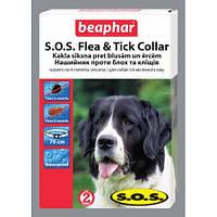 Ошейник beaphar S.O.S. от блох и клещей для собак, с 6 мес, 70см