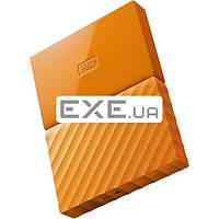 """Внешний жесткий диск WD 2.5"""" USB3.0 1Tb My Passport Orange (WDBYNN0010BOR-WESN)"""