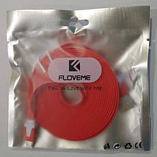 Micro USB кабель Floveme 3 метра красный, фото 3