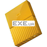 """Внешний жесткий диск WD 2.5"""" USB3.0 2Tb My Passport Yellow (WDBYFT0020BYL-WESN)"""