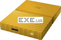 """Внешний жесткий диск WD 2.5"""" USB3.0 1Tb My Passport Yellow (WDBYNN0010BYL-WESN)"""