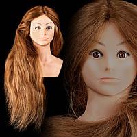 Учебная голова-манекен, 50% натуральный волос 85 см + штатив