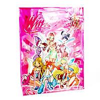 Подарочный пакет пластик Winx 23*8*30