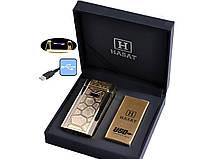 Электроимпульсная USB зажигалка Hasat №4771-3, поджигает все, работает в любую погоду, необычный подарок