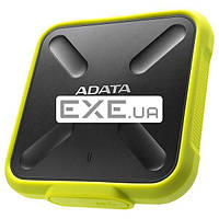 Твердотельный накопитель SSD ADATA 256GB (USB 3.1 Type-C) SD700 IP68 Yellow (ASD700-256GU3-CYL)