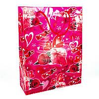 Подарочный пакет пластиковый Love 23 х 8 х 30 см