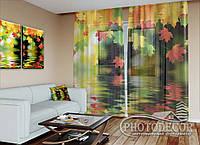 """ФотоТюль """"Осенние листья"""" (2,5м*1,50м, карниз 1м)"""