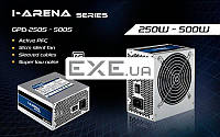 Блок питания Chieftec 500 W ATX 2.31 APFC 20+4+4+6/ 8pcie 1*12см КПД>85% TUV/ CE/ UL серт (GPB-500S)