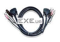 ATEN 2L-7D02UI USB DVI-I Single Link KVM Cable 1,8m, New! (2L-7D02UI)