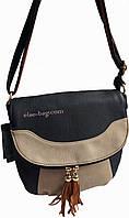 Женская сумка почтальонка двухцветная