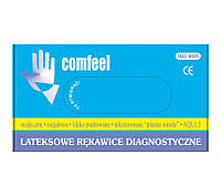 Перчатки латексные припудренные Comfeel (L)