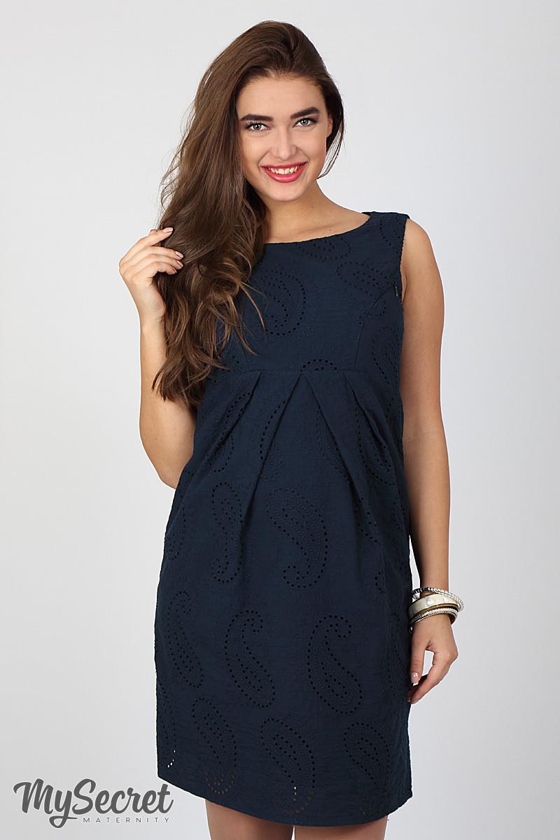 6415e86c70c133 Нежный сарафан для беременных и кормления Amery, темно-синий -  Интернет-магазин