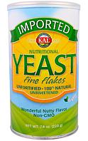 KAL, Imported, пищевые дрожжи, мелкие хлопья, 7.8 унции(220 г)
