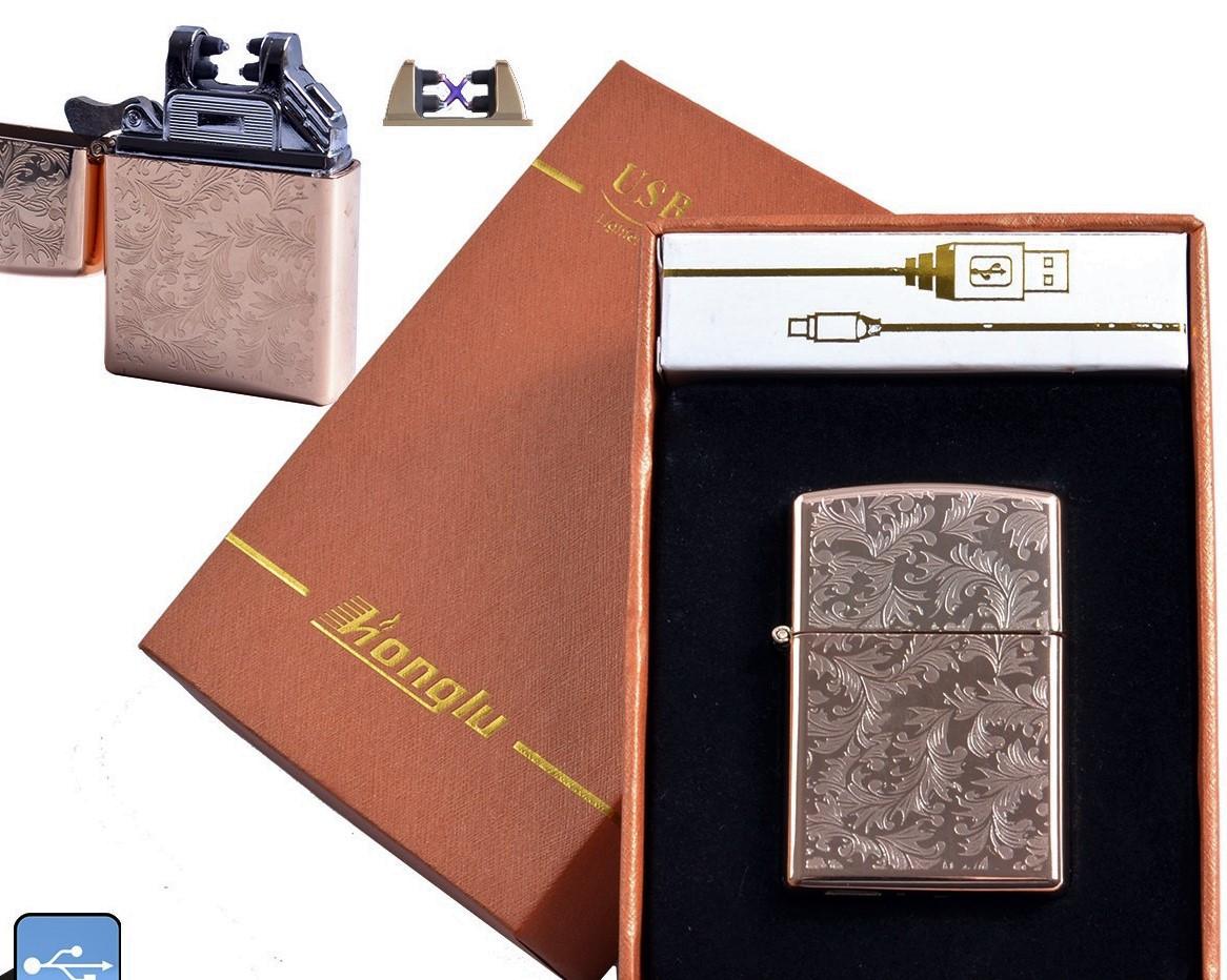 Электроимпульсная USB зажигалка Honglu №4777-3, новые технологии для курильщиков, незабываемый подарок